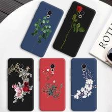 Яркий матовый чехол для телефона из ТПУ для Meizu 15 Lite Plus E3 MX6 M5 M6 Note Pro 6 5 M6S Mobile Bloom чехол для телефона для OnePlus 5T Coque