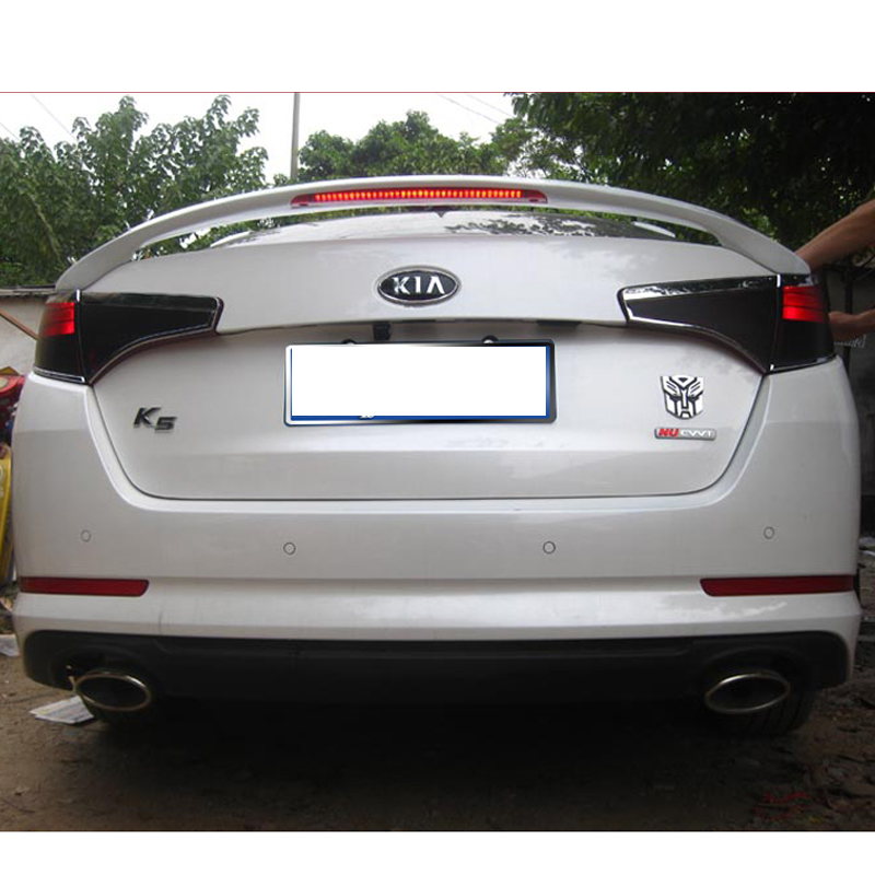 For kia K5 Optima Spoiler High Quality ABS Material Car Rear Wing Primer Color Rear Spoiler For kia K5 Optima Spoiler 2011-2013 kalaite car led drl for kia optima k5 2013 2014 2015 daytime running lights for kia optima k5 fog head lamp cover car styling