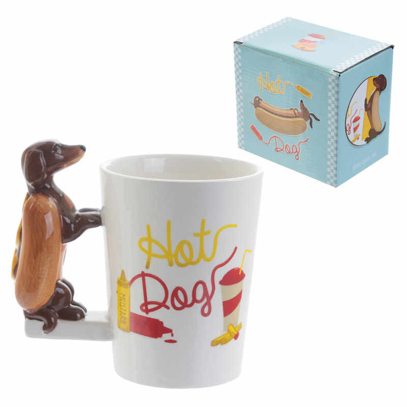 15f9d57b7ae ... Dachshund Sausage Pet Dog Personalised Mug Unique Sausage Dog Gift  Funny Fast Food Sausage Puppy Bassotto
