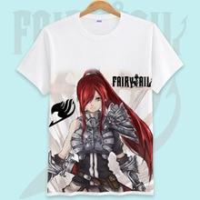 Fairy Tail Printed Men T Shirt Cotton O-Neck tshirts Cartoon Shirt Short-Sleeve Women T-Shirt