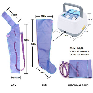 Image 4 - Air Compression Massager Handheld Controller Blood Circulation Pump Wrap Set for Double Arm Leg Cuff Waist Relax Massage