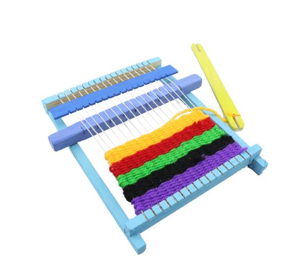 Handmade Wooden Craft Loop Weave Loom Toy Model Accessories For Children Science Technology Small Production Making