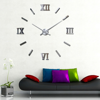 My House Modern DIY Large Wall Clock Mirror Surface Sticker Home Office Decor Mar2