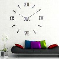 My House Modern DIY Large Wall Clock Mirror Surface Sticker Home Office Decor Mar2