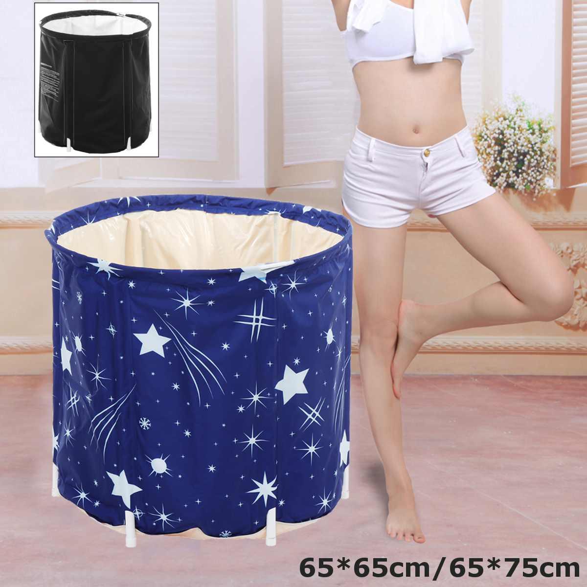Full-body Folding Detachable Adult  Portable Travel Home Home Bath Bucket Insulation Massage Pool Bathing Warm