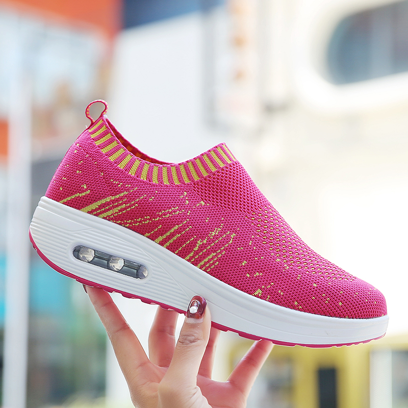 Trail Running Shoes Spring New Women Breathable Sports Shoes Height Increasing Girls Fitness Barefoot Atheltic Sneakers 35-40