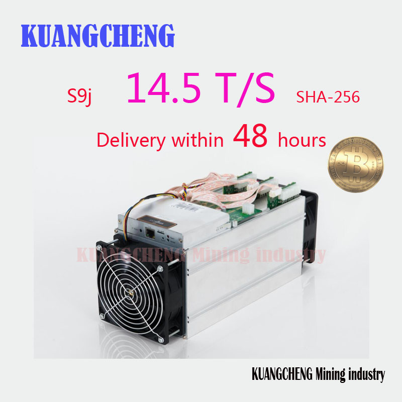 KUANGCHENG minería BITMAIN antminer S9 14,5 T con PSU Bitcoin minero Asic S9 14 t 13 t minero trabajo BCC btc pcc sha256 16nm Btc Miner