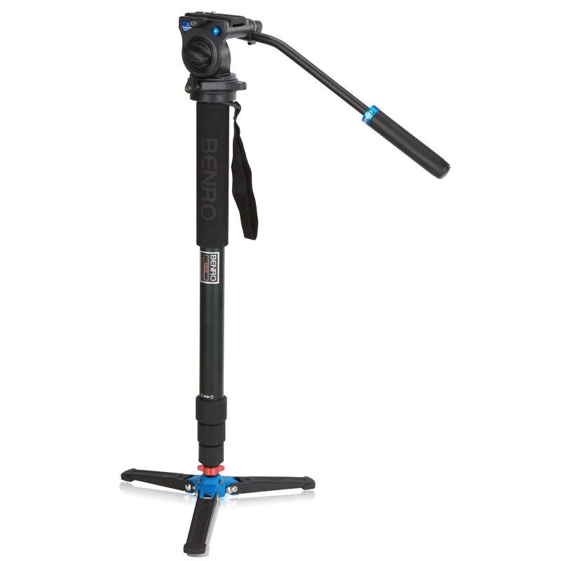 Benro A38TDS2 monopode en aluminium pour caméra vidéo DSLR avec S2 tête à billes 4 Section sac de transport charge Max 2.5 kg