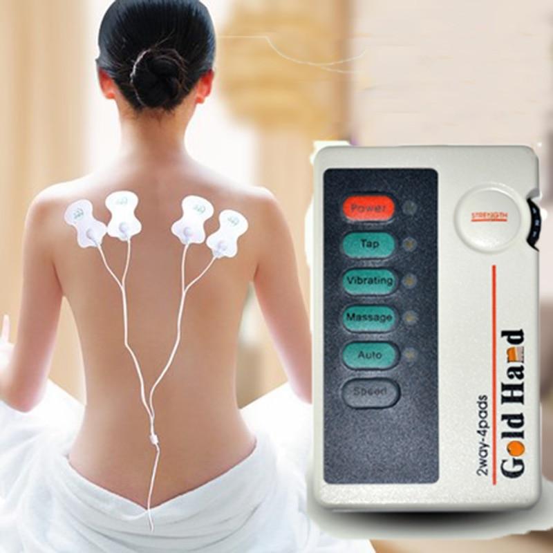 НИСКА честота болка релакс облекчаване на импулсен масажор десетки машина електрически стимулатор терапия за цялостно релаксация на тялото масаж XFT-502