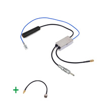 Eightwood FM AM To DAB DAB FM AM Car Radio Aerial Antenna Amplifier Converter Splitter F