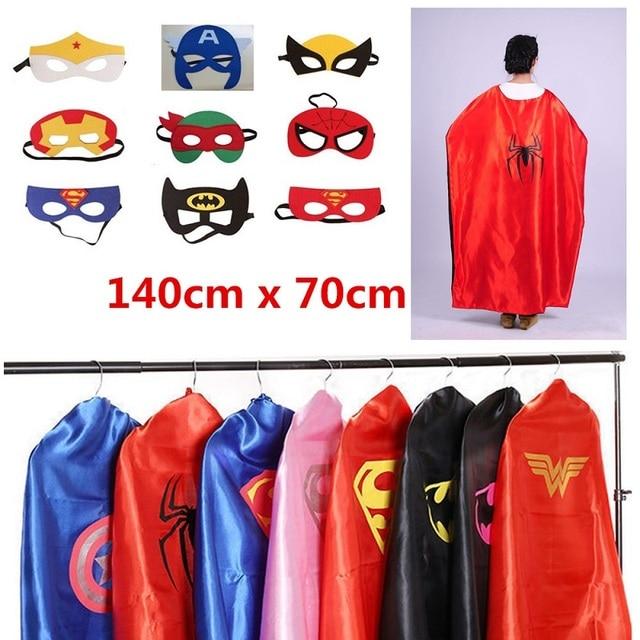 140 CM adulto superman spiderman mantello mantelli di supereroi e maschera  costume set per le donne 4f749c5e1f3