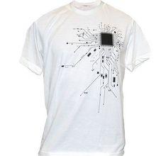 Computer CPU Core Heart T Shirt Men s GEEK Nerd Freak Hacker PC Gamer Tee Summer