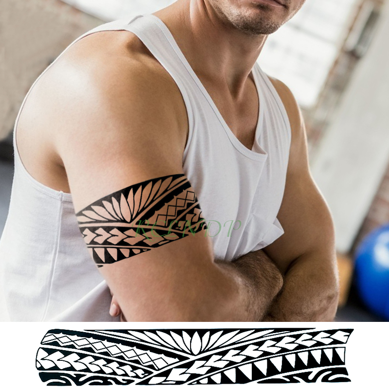 Waterproof Temporary Tattoo Sticker Tribal totem band Fake Tatto Personality Flash Tatoo Waist Arm Foot Tato for Girl Women Men ник джонас