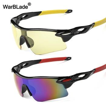 2a5fb3247d WarBLade hombres mujeres noche visión gafas de sol al aire libre de pesca deportiva  de escalada gafas de sol Anti Glare conducción gafas UV400