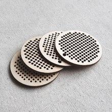 Вышивка крестиком пустой кулон круг 50 мм деревянная серьга