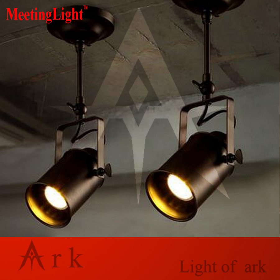 Meetinglight American industrial Loft RH Retro led Ceiling Lamp Bars/Clothing store Personality creative Track Lighting personalized clothing store track lamp