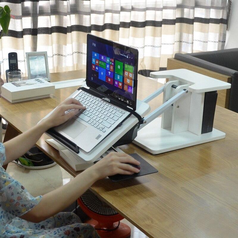 Kesrer 03 Full Motion Laptop Desk Riser Mouse Pad Free Lifting Ergonomic Sit Stand Lapdesk Desktop