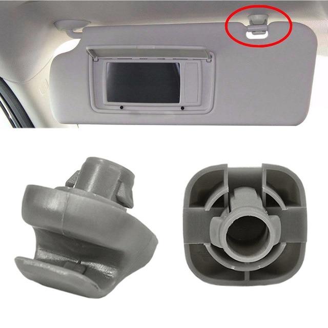New 2Pcs Sun Visor Clip 88217S01A01ZA for Honda 98-07 Accord 96-04 Civic 07-11 CR-V 03-05 Element