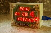 Multi function digital tube 14 LED dot matrix electronic clock diy kit soldering kit electric