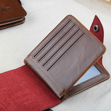 Money Bag Hasp Leather Small Wallet