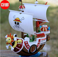 35 cm One Piece Thousand navio Pirata Ensolarado Modelo PVC Action Figure Modelo Coleção Toy
