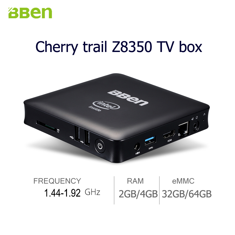 Bben z8350 mini pc Windows 10 Quad Core TV Box RAM 2GB 4GB Smart TV BOX