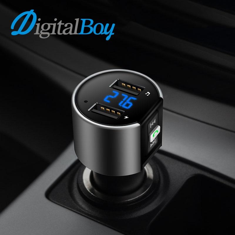 Digitalboy Bluetooth Handsfree Car Kit Trasmettitore FM Modulatore Dual USB di Ricarica di Rilevamento della Tensione U Musica Disco Auto Lettore MP3