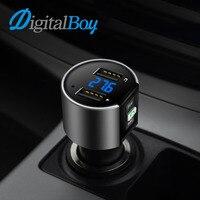 Digitalboy bluetoothハンズフリーキット車のfmトランスミッタ変調器デュアルusb充電電圧検出uディスク音楽車のmp3プレーヤ