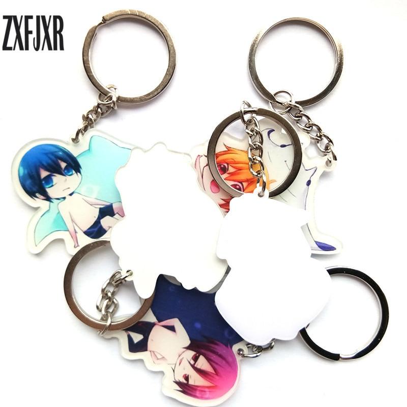 Free Hazuki Nagisa Acrylic Keychain Key Ring Two Faces Bag Ornament Keyring