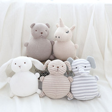 Детская подушка с колокольчиком, плюшевые игрушки для детской комнаты, Декор, детские вязаные животные, мягкие игрушки для новорожденных девочек, подарки на день рождения