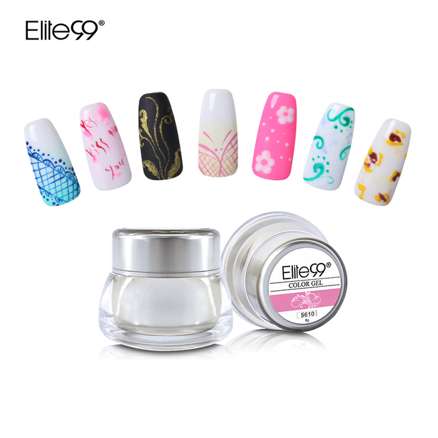 Elite99 3 D Painting Color Gel Drawing Uv Gel Diy Nail Art Paint For Painting Varnish Need Base Top Coat Gel Lacquer 12 Colors  by Elite99