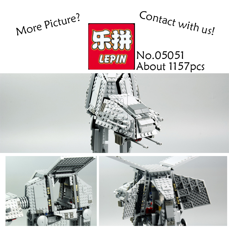 Lepin 05051 Star War Series Force Awaken The AT-AT Transpotation Armored Robot Building Blocks Bricks kids Toy Starwars 75054 rollercoasters the war of the worlds