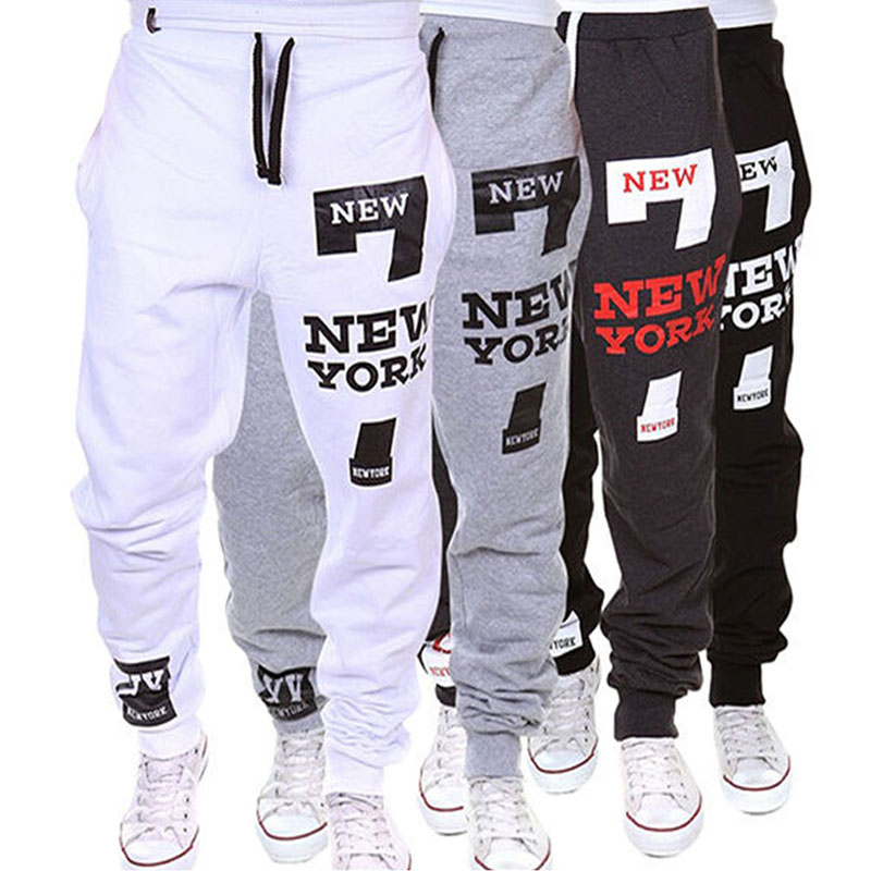 M-SXL Men's Jogger Dance Sportwear Baggy Casual Pants Trousers Sweatpants Dulcet Cool Black/White/Deep gray/Light gray