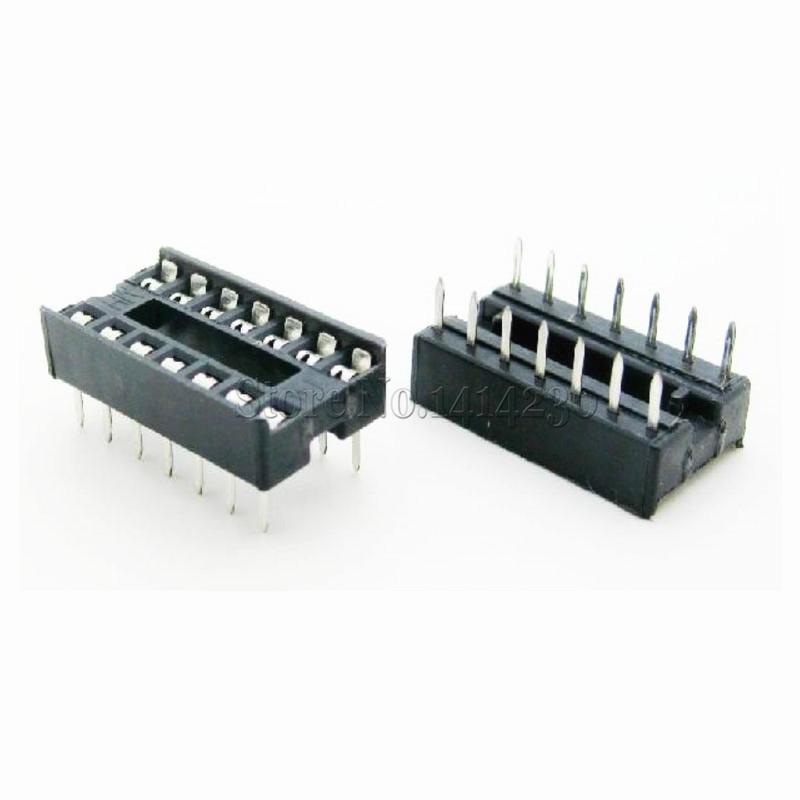 10Pcs 14pin DIP IC Sockets Adaptor Solder Type 14 Pin DIP-14