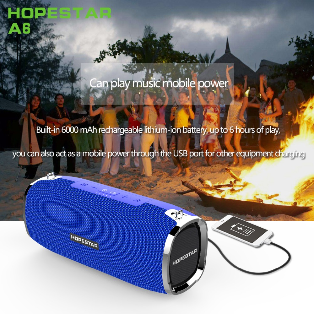 A6 Bluetooth Speaker 35W Computer Speakers Column Outdoor Portable Speaker FM Radio AUX USB Music Player Boom Box with Charger mrice campers 2 0 bluetooth speaker portable music box