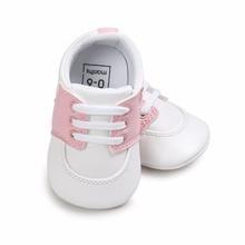 אופנה בנים ובנות בייבי נעלי ספורט ילדים Prewalker ילדים ללא החלקה נעלי ספורט Sapatos Infantil Bebe רך הליכונים הראשונים עריסה