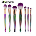 Aochern Makeup Brushes 5Pcs&7Pcs Mermaid Make up Brush Set Blending powder Eyebrow Eyeliner Blush Cosmetic Contour Brush.