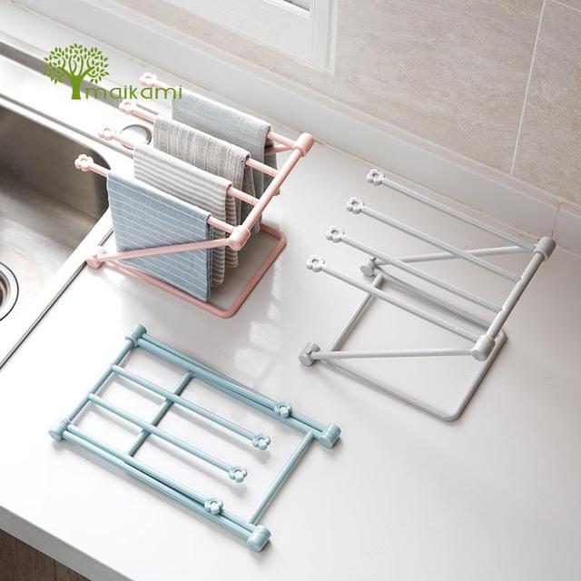 kitchen towel bar pendant lighting plastic rotating rack bathroom polished holder hardware accessory free shipping