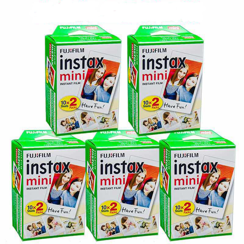 100 feuilles Original Fujifilm Fuji Instax Mini Film blanc feuille pour Polaoird mini 7 7 s 8 10 20 25 30 50 s 55 70 50i SP1 lomo