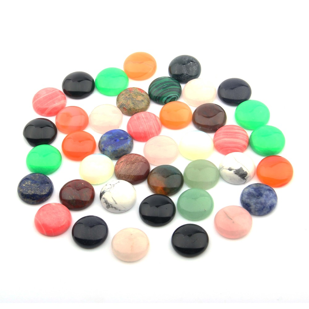 10 PCS Natural Stones Cabochon 12 14 16 18 20 25mm Round No Hole For Jewelry Making Jewelry Accessories Wholesale Supplies