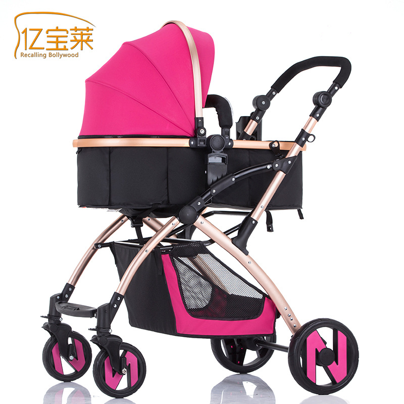 купить Ebola High Landscape Baby Stroller Can Sit And Lie Four Wheel For Stroller по цене 12242.95 рублей