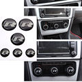 R Interruptor Resina Emblema Emblema Etiqueta FIt para MK7 GO-LF 7 Botão de Rádio estéreo Conjunto de 6 Car Styling acessórios auto carro-cobre