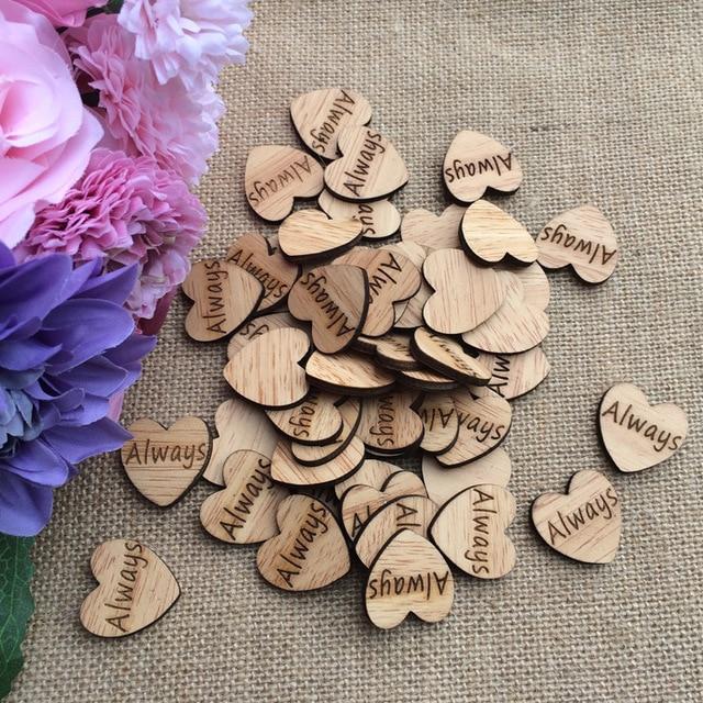 Romantische Hochzeit Immer Naturliche Holz Herz Konfetti Vintage