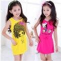 Девочки платье лето, Высокое качество платье девушки новинка, Детские дети красивое платье для девочек, 4 дополнительный цвет, Бесплатная доставка