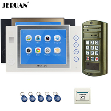 "JERUAN  8"" TFT Color Video Door Phone Record Intercom System kit 2 Monitor +NEW Waterproof Access Password HD Mini Camera 1V2"