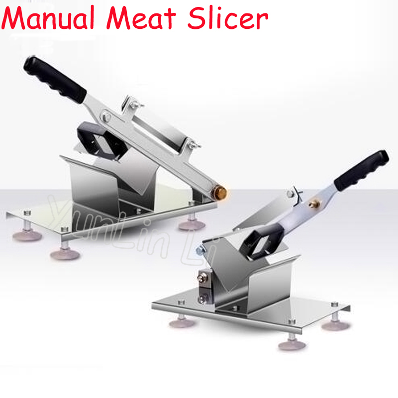 Commercial Household Manual Meat Slicer Lamb Beef Meatloaf Frozen Meat Cutting Machine Vegetable & Meat Hand Mincer Cutter eilemo meat grinder cutting machine meat slicer mincer cutter portable manual hand blender mixer food processor