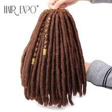 12 дюймов искусственные локоны в стиле Crochet косы волосы мягкие носки вязаные крючком дреды волосы с ColorLine 20 нитей/пакет синтетические косички, волосы для наращивания