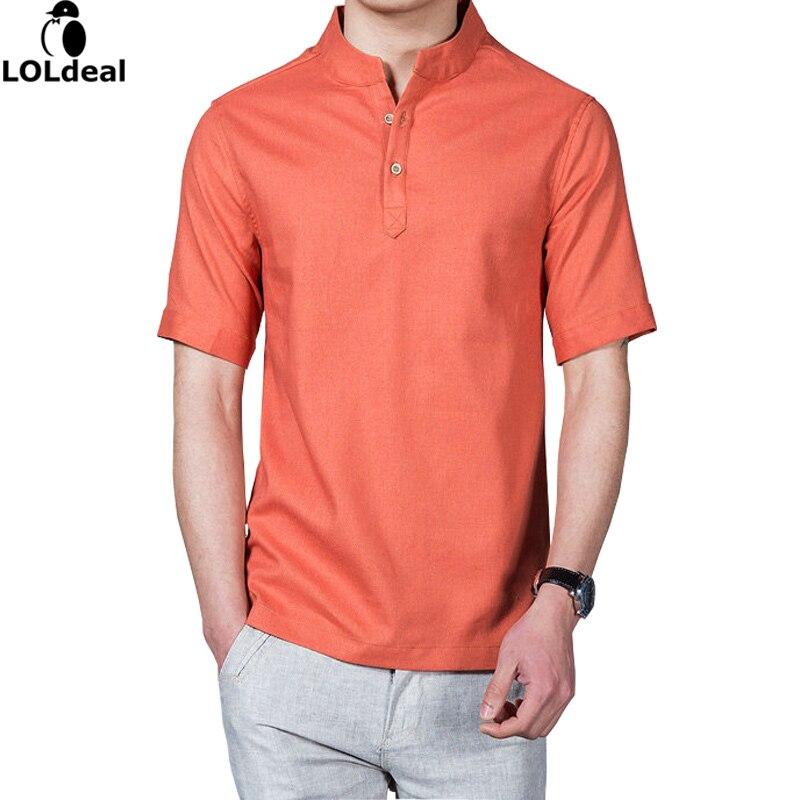 100% Wahr 2017 Heißer Mode Leinen Shirts Männer Sommer Männer Shirt Kurzarm Casual Slim Fit Herren Shirts (asiatische Größe)