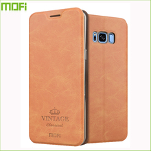 MOFi Vintage Leather Flip Case for Samsung Galaxy S8
