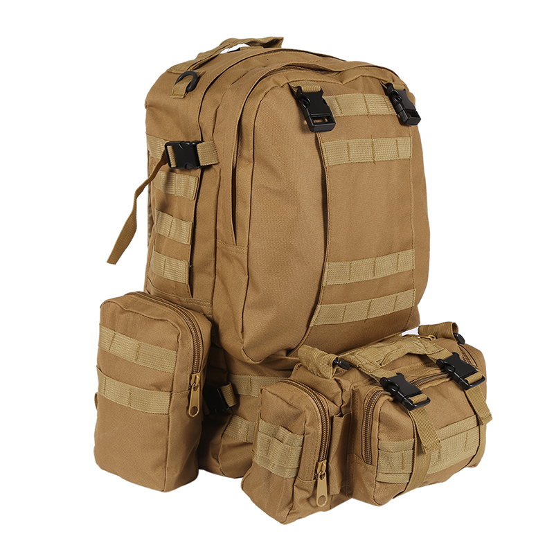 55L Molle combinaison sac à dos randonnée Camping alpiniste militaire sac à dos en plein air sac tactique Trekking sac à dos Camo